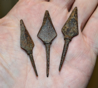 Decent quality Roman Military Iron tanged arrowheads from Germany (Priced each) SOLD